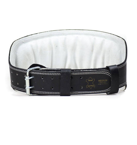 H5083 Harbinger 6-inch Leather Weight Lifting Belt Front