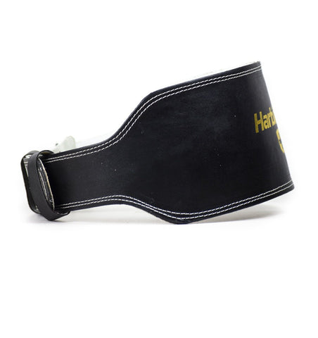 H5083 Harbinger 6-inch Leather Weight Lifting Belt Side