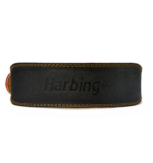 HAR284 Harbinger 4 inch Leather Weight Lifting Belt Back