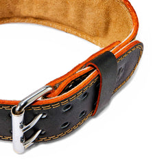 HAR284 Harbinger 4 inch Leather Weight Lifting Belt Buckle