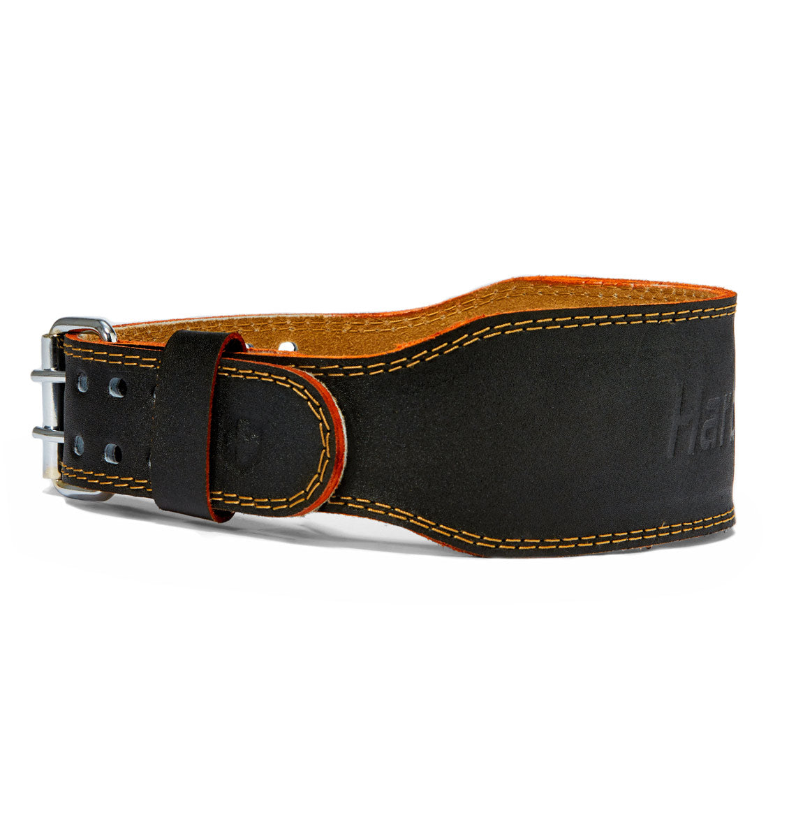HAR284 Harbinger 4 inch Leather Weight Lifting Belt Side