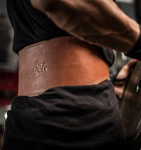 Harbinger 6 inch Oiled Leather Weight Lifting Belt - Lifestyle - 1
