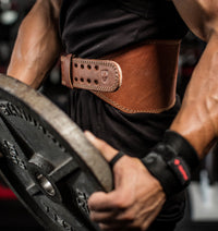Harbinger 6 inch Oiled Leather Weight Lifting Belt - Lifestyle - 2