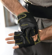 Harbinger Men's FlexFit Wash&Dry Glove Green Black - Lifestyle - 1