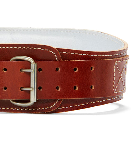 L2004 Schiek Contour Leather Weight Lifting Belt Front Close Up