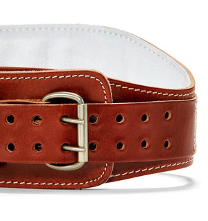 L2006 Schiek Contour Leather Weight Lifting Belt Front Close Up