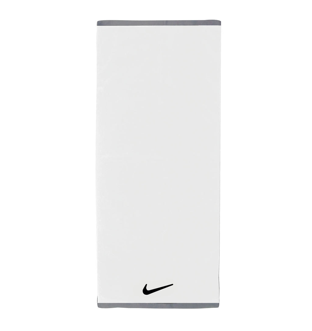 Nike Fundamental Towel - Large - White/Black - 1