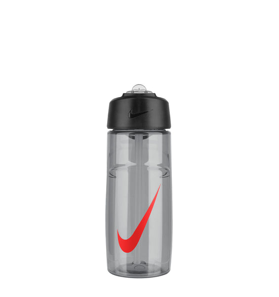 Nike T1 Flow Water Bottle - 16oz/473mL - Wolf Grey/Bright Crimson - 1
