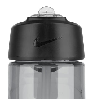 Nike T1 Flow Water Bottle - 16oz/473mL - Wolf Grey/Bright Crimson - 2