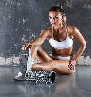 PTP Massage Therapy Foam Roller - Firm - Action Shot - 1