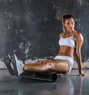 PTP Massage Therapy Foam Roller - Large/Firm - Action Shot