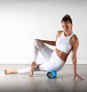 PTP Massage Therapy Foam Roller - Soft - Action Shot - 1