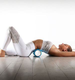 PTP Massage Therapy Foam Roller - Soft - Action Shot - 2