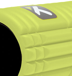 TriggerPoint The Grid 1.0 Foam Roller - Lime Green - 45 Degree Angle Close Up