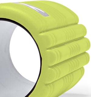 TriggerPoint The Grid 1.0 Foam Roller - Lime Green - 60 Degree Angle Close Up