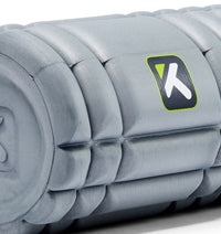 TPT303328000000 TriggerPoint Core Mini Foam Roller Grey - 45 Degree Angle - Close Up
