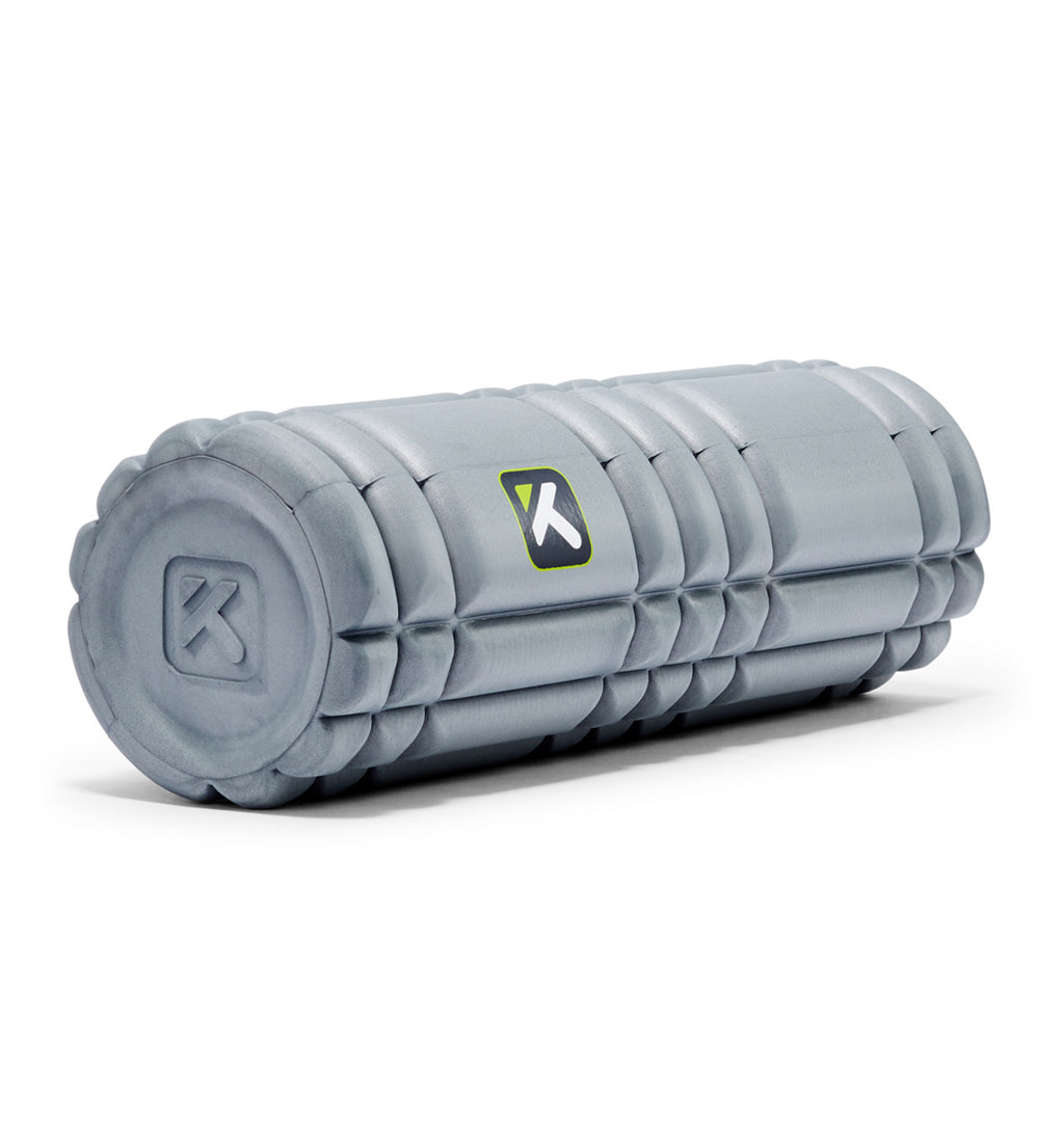 TPT303328000000 TriggerPoint Core Mini Foam Roller Grey - 45 Degree Angle - Full Shot
