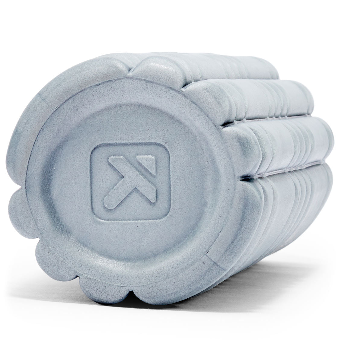 TPT303328000000 TriggerPoint Core Mini Foam Roller Grey - 60 Degree Angle - Close Up