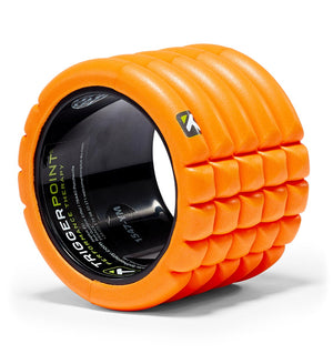 TPT3GRD0MINIORG TriggerPoint The Grid Mini Foam Roller Orange - 45 Degree Angle - Close Up