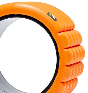 TPT3GRD0MINIORG TriggerPoint The Grid Mini Foam Roller Orange - 60 Degree Angle - Close Up