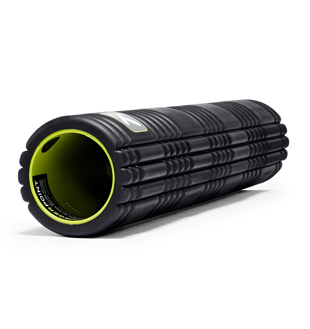 TPT3GRD2BWS0000 TriggerPoint The Grid 2.0 Foam Roller Black - 45 Degree Angle - Full Shot