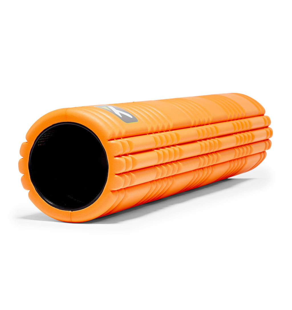 TPT3GRD2OWS0000 TriggerPoint The Grid 2.0 Foam Roller Orange - 45 Degree Angle - Full Shot