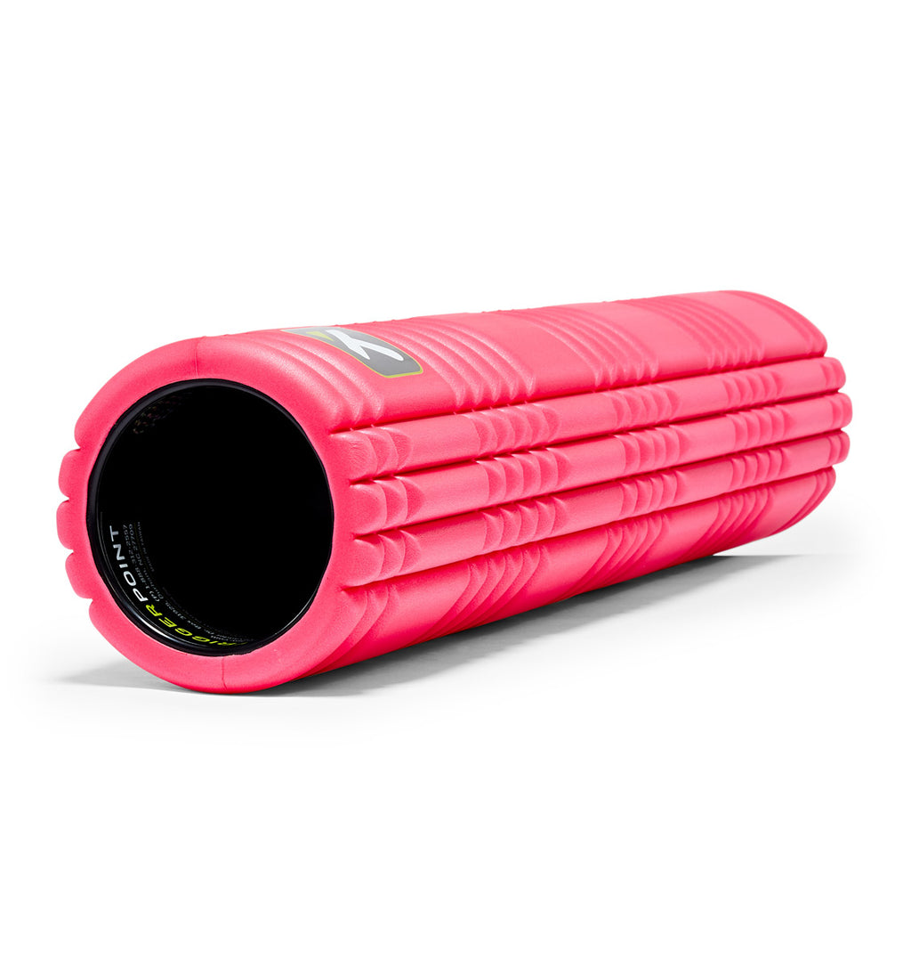 TPT3GRD2PWS0000 TriggerPoint The Grid 2.0 Foam Roller Pink - 45 Degree Angle - Full Shot