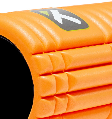 TPT3GRDOWS00000 TriggerPoint The Grid 1.0 Foam Roller Orange - 45 Degree Angle - Close Up