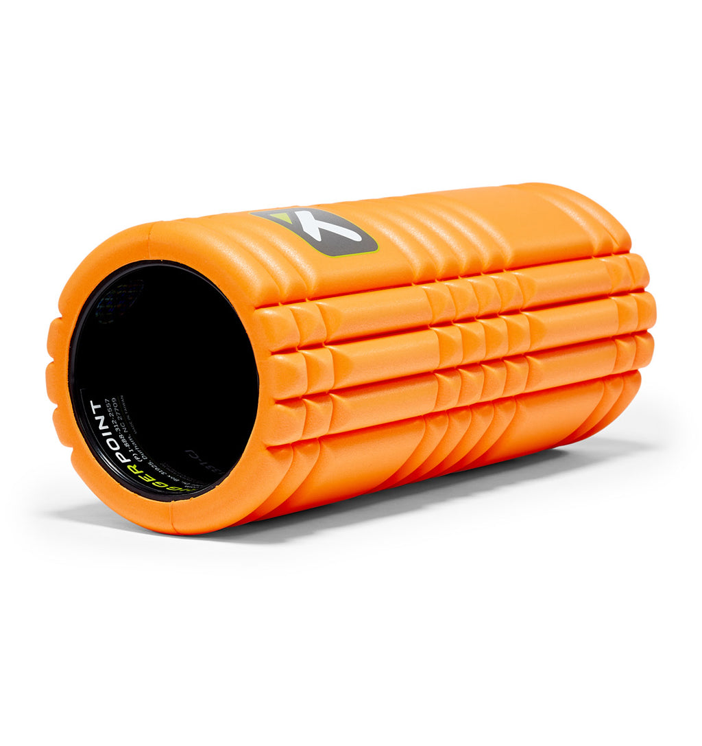 TPT3GRDOWS00000 TriggerPoint The Grid 1.0 Foam Roller Orange - 45 Degree Angle - Full Shot