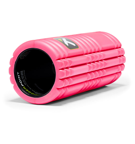TPT3GRDPWS00000 TriggerPoint The Grid 1.0 Foam Roller Pink - 45 Degree Angle - Full Shot