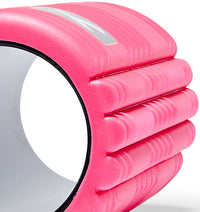 TPT3GRDPWS00000 TriggerPoint The Grid 1.0 Foam Roller Pink - 60 Degree Angle - Close Up