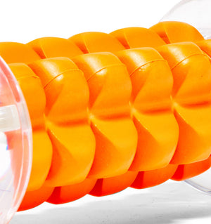 TPT3NANO0000000 TriggerPoint Nano Foot Roller Orange Angled Close Up