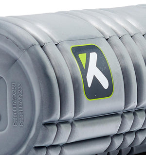 TPT3SLDCORE180 TriggerPoint Core Solid Foam Roller Grey - 45 Degree Angle - Close Up