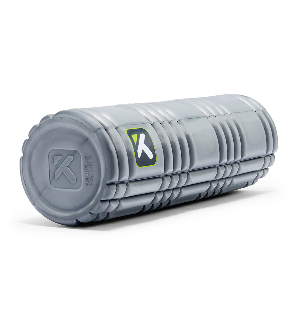 TPT3SLDCORE180 TriggerPoint Core Solid Foam Roller Grey - 45 Degree Angle - Full Shot