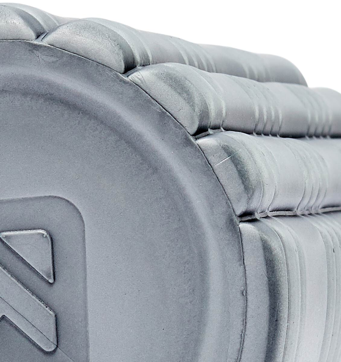 TPT3SLDCORE180 TriggerPoint Core Solid Foam Roller Grey - 60 Degree Angle - Close Up