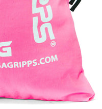Versa Gripps Breathable 100% Taslan VG Stuffsak Bag Pink Logo Close Up