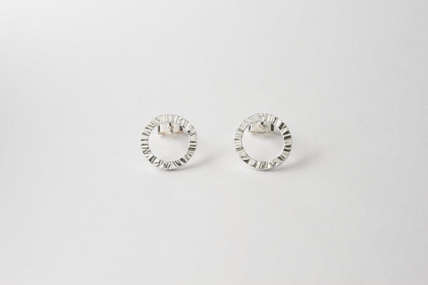 Small hammered sterling studs