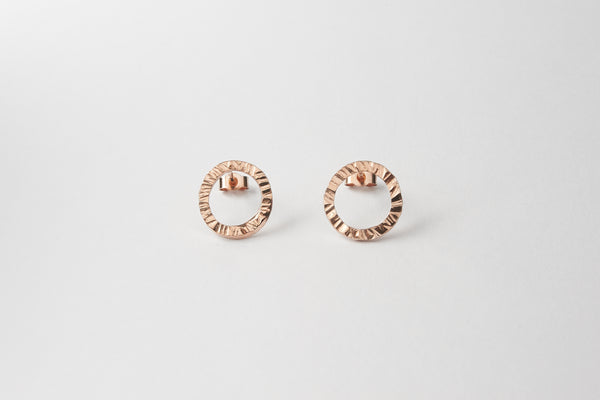 Rose gold vermeil small stud
