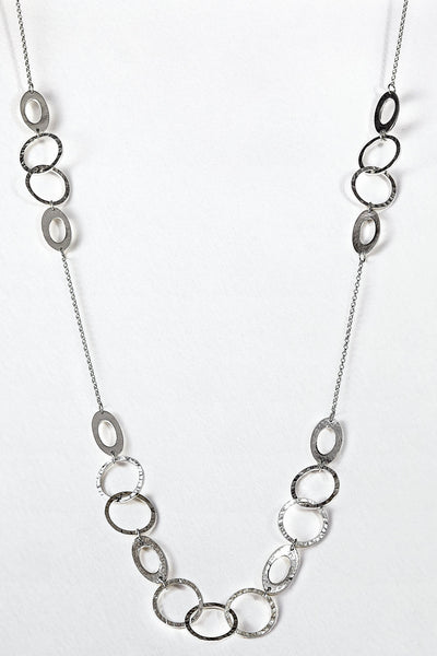 Long decorative chain necklace
