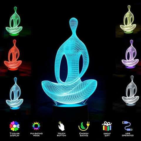 3D MEDITATION YOGA NIGHT LAMP