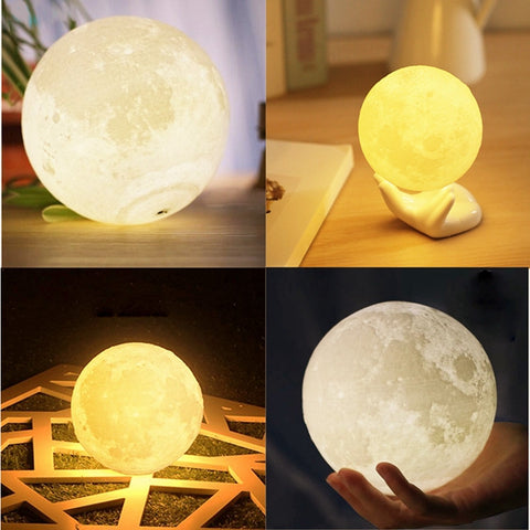 Luna™ - 3D Printed Full-Moon LED Lamp