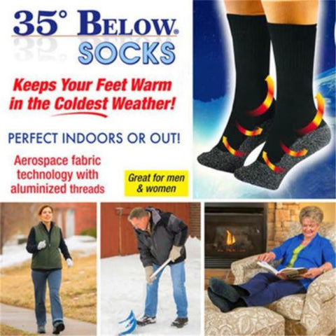 35° BELOW® SOCKS - Aluminized Fibers Super Warm  Socks