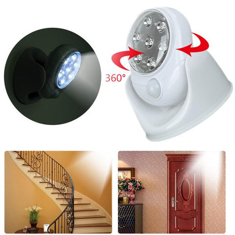 7 LED  Motion Activated  360 Degree Rotation Lamp