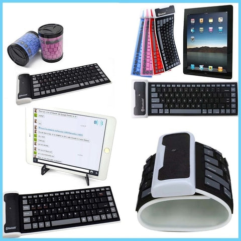 Waterproof Foldable Bluetooth silicone keyboard