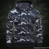 Delta 433 -Tactical Side Pocket Camouflage Hoodie - Indigo-Temple