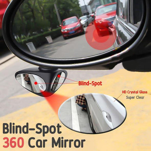 2In1 Car Safety 360 Blind spot Mirror (2pcs )