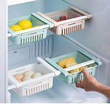 Resizable Pull-out Refrigerator Storage Box - Indigo-Temple