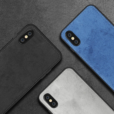 Ultra-thin Canvas Silicon Case For iphone