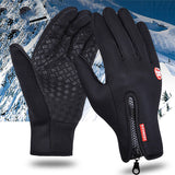 Windproof & Waterproof  Thermal Anti-slip Gloves - Indigo-Temple
