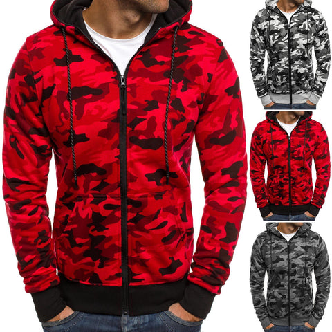 Men's TACTICAL Camouflage Zipped Hoodies